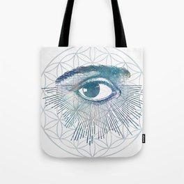Mandala Vision Flower of Life Tote Bag