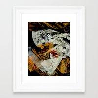 bathroom Framed Art Prints featuring bathroom by meredith w ochoa