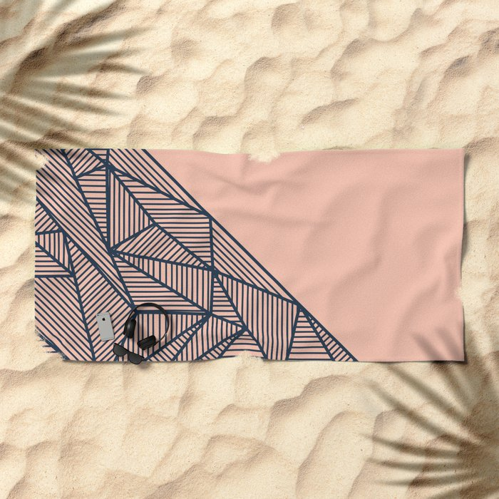 B Rays Geo 2 Beach Towel