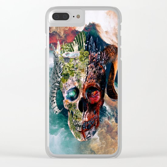 Two Face II Clear iPhone Case