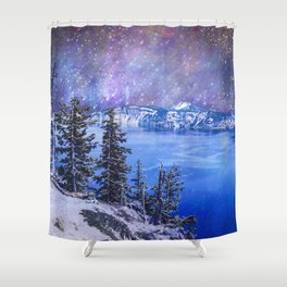 Otherworldly Sky Over Crater Lake Oregon Shower Curtain
