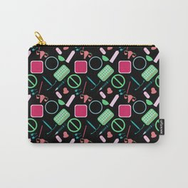 Contraception Pattern (Black) Carry-All Pouch
