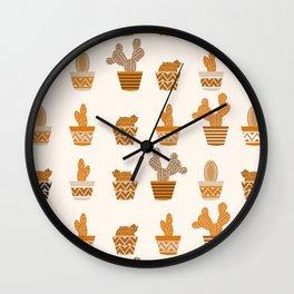 Potted cacti II Wall Clock