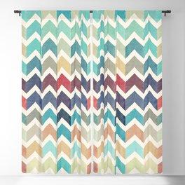Watercolor Chevron Pattern Blackout Curtain