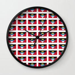 flag of Antigua and barbuda -antiguan,barbudan,caribean,antilles,Saint John,madeiran Wall Clock