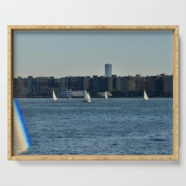 Sailing on the Hudson River Serving Tray