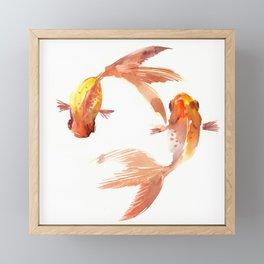 Goldfish Feng Shui, Koi Fish Framed Mini Art Print