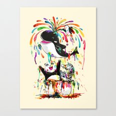 Yay! Whale of a Bath Time! Canvas Print