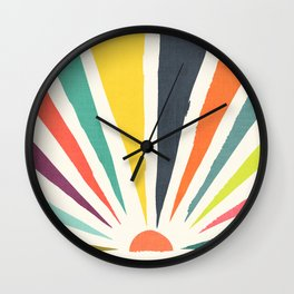Rainbow ray Wall Clock