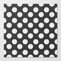 polka dots Canvas Prints featuring Polka Dots by NobuDesign