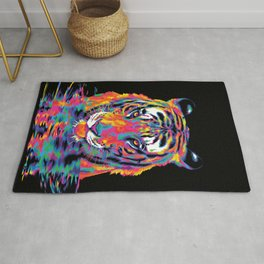 Rainbow Tiger Drinks Rug