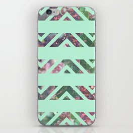 tribal florals iPhone Skin
