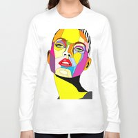 model Long Sleeve T-shirts featuring Model by Floridana Oana