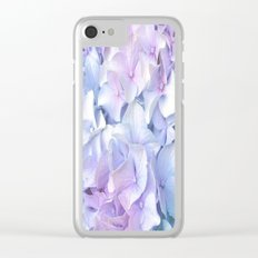 Soft Pastel Hydrangea Clear iPhone Case