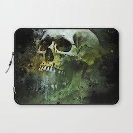 Splashed watercolor skull painting   let's get messy! Laptop Sleeve