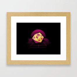 DND Synthwave Framed Art Print