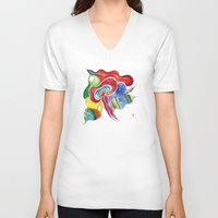 medusa V-neck T-shirts featuring Medusa by Gosia&Helena