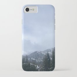 Snowy Peaks Above a Green Forest in Victoria, B.C. (Canada) iPhone Case