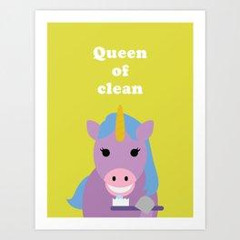 Queen of Clean Art Print