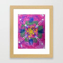 hj Framed Art Print