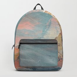 Mountains abstract landscape red Backpack