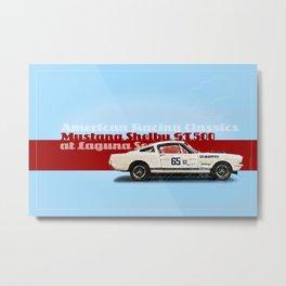 Mustang at Laguna Seca Metal Print