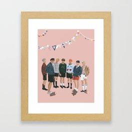 BTS Young Forever Pattern - Pink Framed Art Print