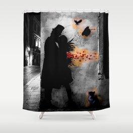 Tribute to Kennyrandom   b&w Shower Curtain