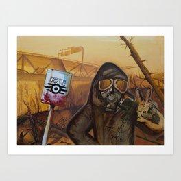 Nuclear Fallout Wasteland Art Print