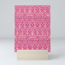 sarasa floral in coral Mini Art Print