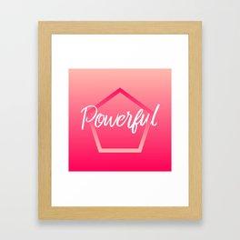 Powerful - Feelings series Framed Art Print