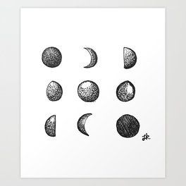Phases of the Moon // Lunar Cycle Art Print