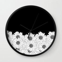 Daisy Boarder Wall Clock