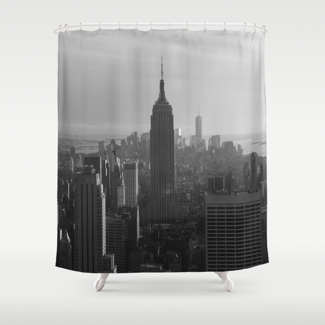 Cityscape Shower Curtain Vintage Style For The Bath