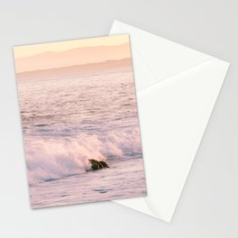 Waves at Sunrise in Monterey Bay Photography Print Stationery Cards