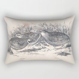 063 Least Swamp Quail synoicus chinensis Swamp Quail synoicus australis Rectangular Pillow