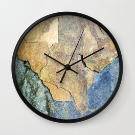 Abstract Stone Wall Clock