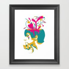 Liquid thoughts:Boy Framed Art Print