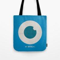 monster inc Tote Bags featuring Monster, Inc. - Blue (Vintage) by Lemontrend Studio