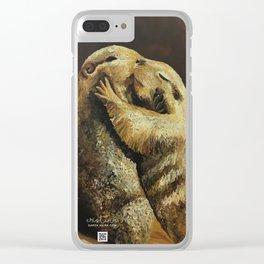 El beso de los perritos de la pradera Clear iPhone Case