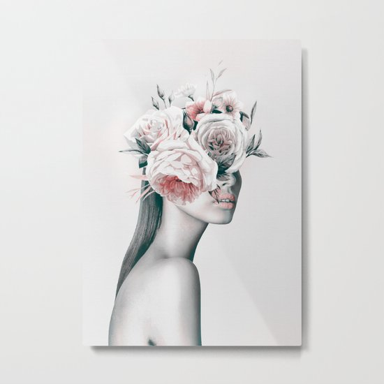 WOMAN WITH FLOWERS 11 Metal Print