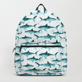 sharks - teal Backpack