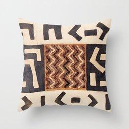 Kuba Congo Central African Wraparound Skirt Print 2 Throw Pillow