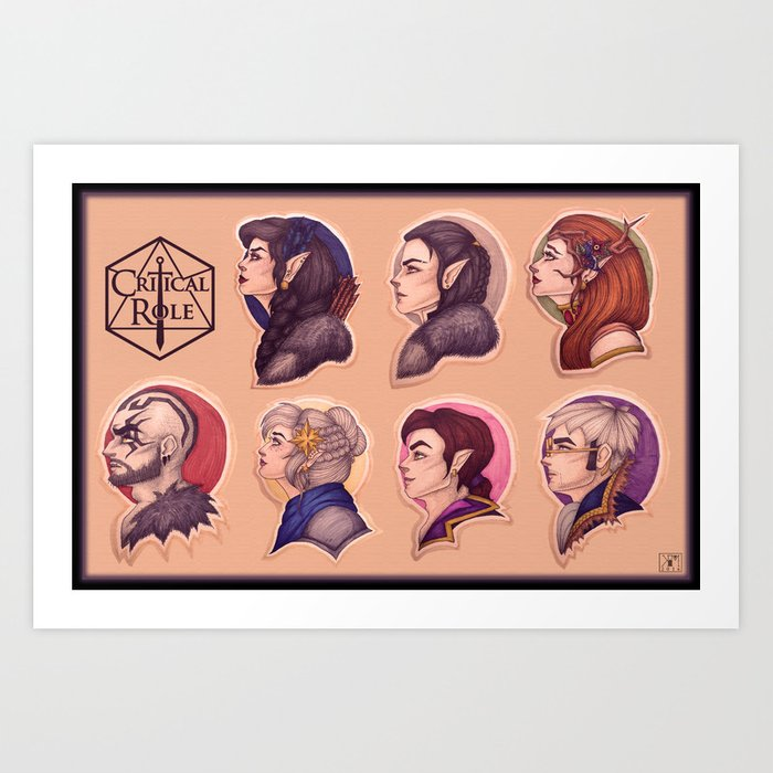 Vox Machina: the Cast of Critical Role Art Print by shadocanary