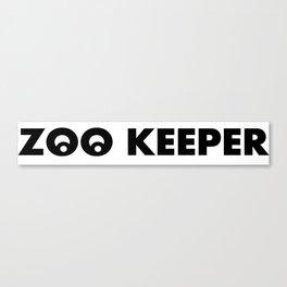 ZOO KEEPER LOGO SYMBOL Canvas Print