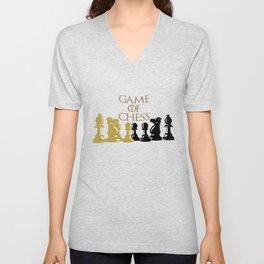 Juguemos ajedrez Unisex V-Neck