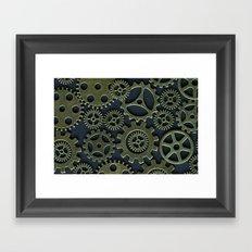 Gold Cogs Framed Art Print