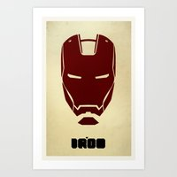 ironman Art Prints featuring IRONMAN by agustain