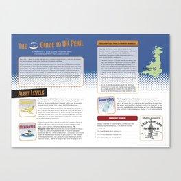 UK Peril Alert System Canvas Print