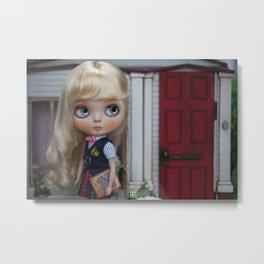 Erregiro Blythe Custom Doll Anita Going to School Metal Print